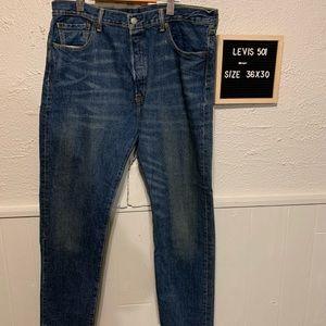 Men's Levi 501 CT 36 waist 30 long